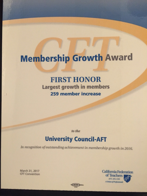 CFT Organizing Award Plaque 2017.JPG